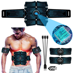 EMS Abdominal Trainer Body Slimming Belt ABS Muscle Stimulator Toner Home Gym Fitness Exercise Electrostimulation Stickers