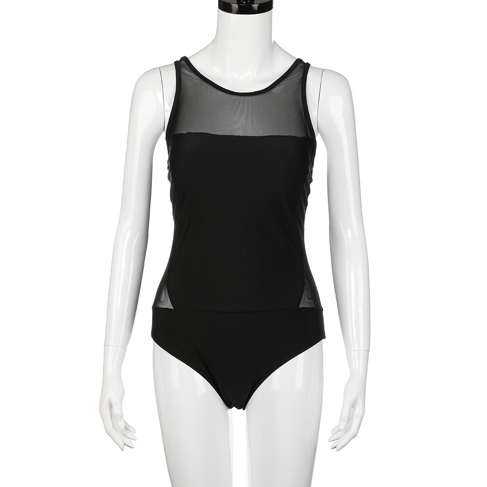 ¸Closeout DealsBlack Swimsuit Beachwear Backless Sexy Women Summer New Net Sand Gauze Elastic Siamese
