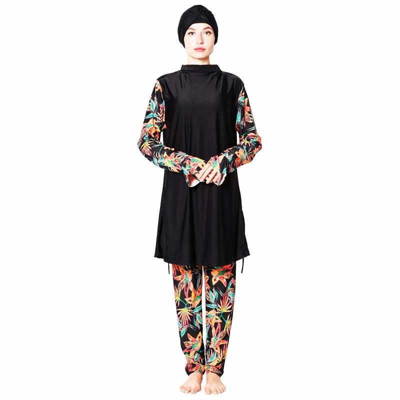 Shehang Phụ Nữ Hồi Giáo Burkinis Full Bao Tay Hồi Giáo Đồ Bơi Lướt Sóng nóng bãi biển Hồi Giáo Đồ Bơi Nữ