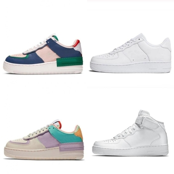 Quality Men Air 1 Utility Candy Macarons Women AF Shoes 1 Shadow Sport Dunnk One Lightweight High Top Skateboard Sneakers