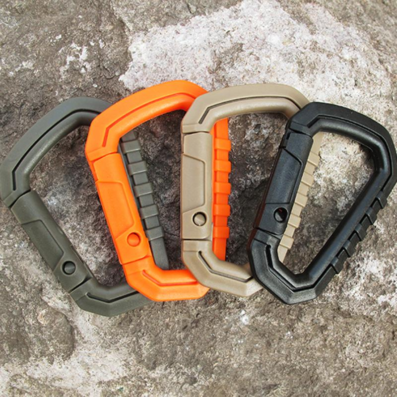 High Strength D-ring Carabiner Clip Hook Molle Webbing Backpack Buckle Snap Lock Keychain Camp Hike Mountain Climbing Outdoor