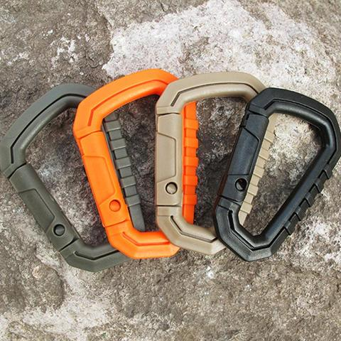 Inexpensive High Strength D-ring Carabiner Clip Hook Molle Webbing Backpack Buckle Snap Lock Keychain Camp Hike Mountain Climbing Outdoor — stackexchange
