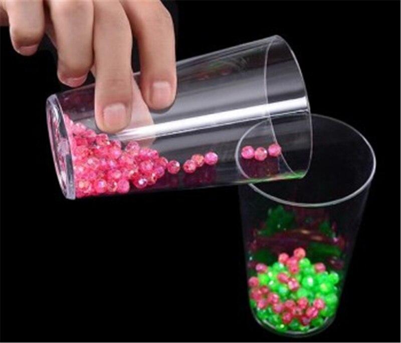 Perle de couleur séparation (avec tasse) tours de Magie gros plan rue Gimmick Prop accessoires drôle deux gobelets perles Magie séparée