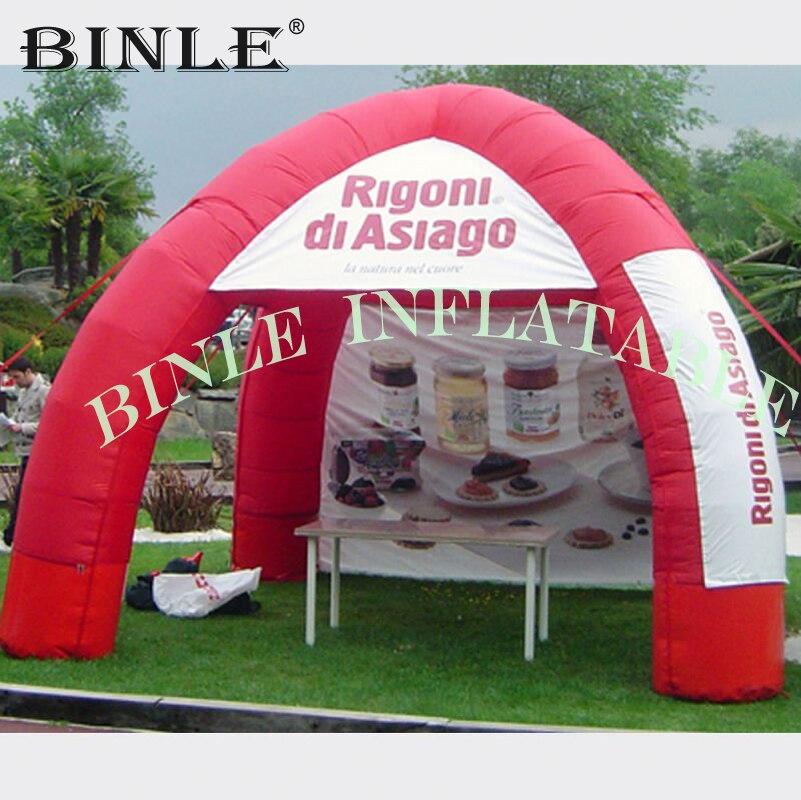 Mini tente d'araignée gonflable d'exposition ronde de 4 jambes avec des murs tente d'auvent de garage de voiture de tente d'arc de dôme de Tube bon marché à vendre