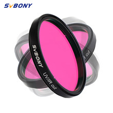 "SVBONY 2"" Filter UV/IR CUT Block for Astronomy Telescope Infra-Red Filter Moon with Monochrome CCD for Astrophotography F9127B(China)"