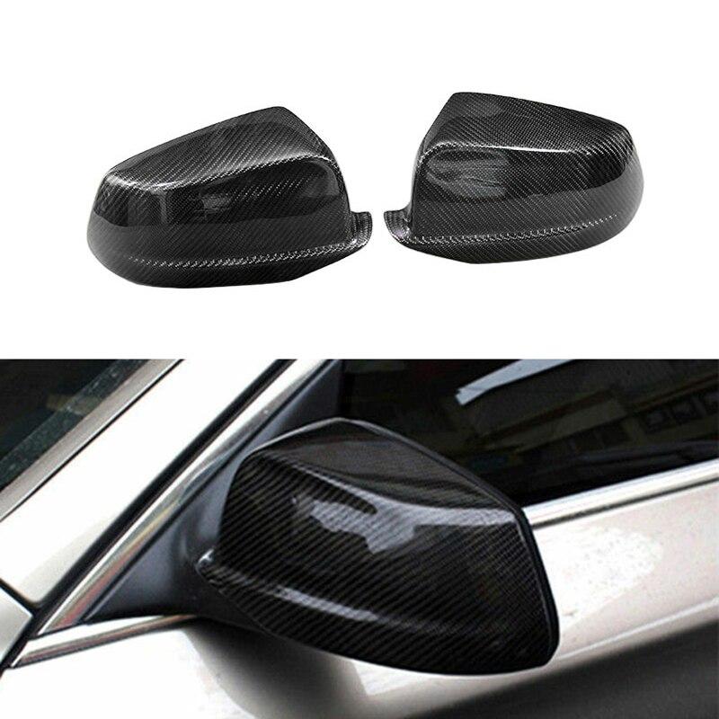 Otomobiller ve Motosikletler'ten Ayna ve Kapaklar'de Karbon Fiber yan arka görünüm ayna kapak için değiştirin BMW F10 F11 F18 pre lci 2011 13 title=