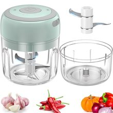 100/250ml Mini USB Wireless Electric Garlic Masher Press Mincer Vegetable Chili Meat Grinder Food Chopper Kitchen Tools