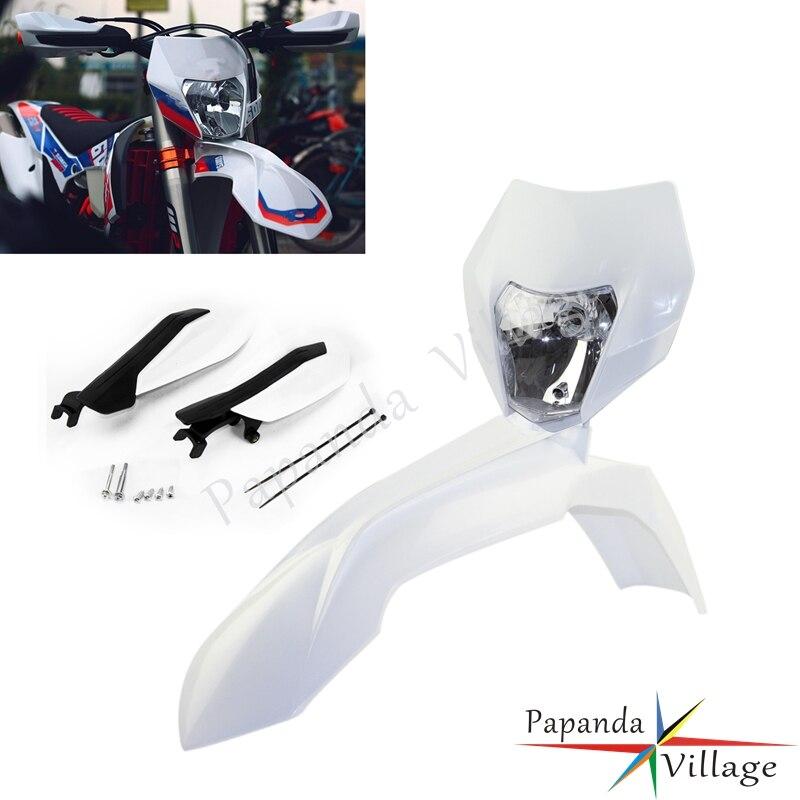 Мотокросс Пластик обтекатель фар Dirt Bike, перекладина для руля переднее крыло для SX SX-F XC XC-W XCF-W EXC EXC-F
