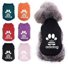 Fashion Pet Dog Clothes Puppy Vest T-shirt Shirt Cute Cotton Sweatshirt Pet Cat Summer Travel Home Clothing
