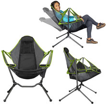 Relaxed Outdoor Camping Chair Rocking Chair Luxury Recliner Relaxation Swinging Comfort Garden Folding Fishing Chair
