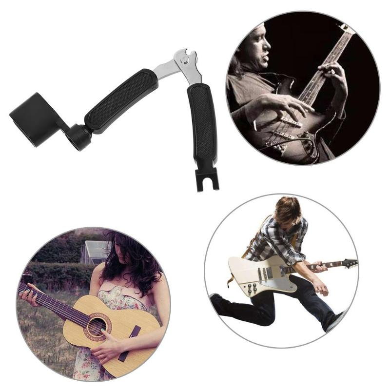 3 In 1 Multifunction Guitar Accessories Guitar Peg String Winder String Pin Puller String Cutter For Guitar Care Dropship in Guitar Parts Accessories from Sports Entertainment