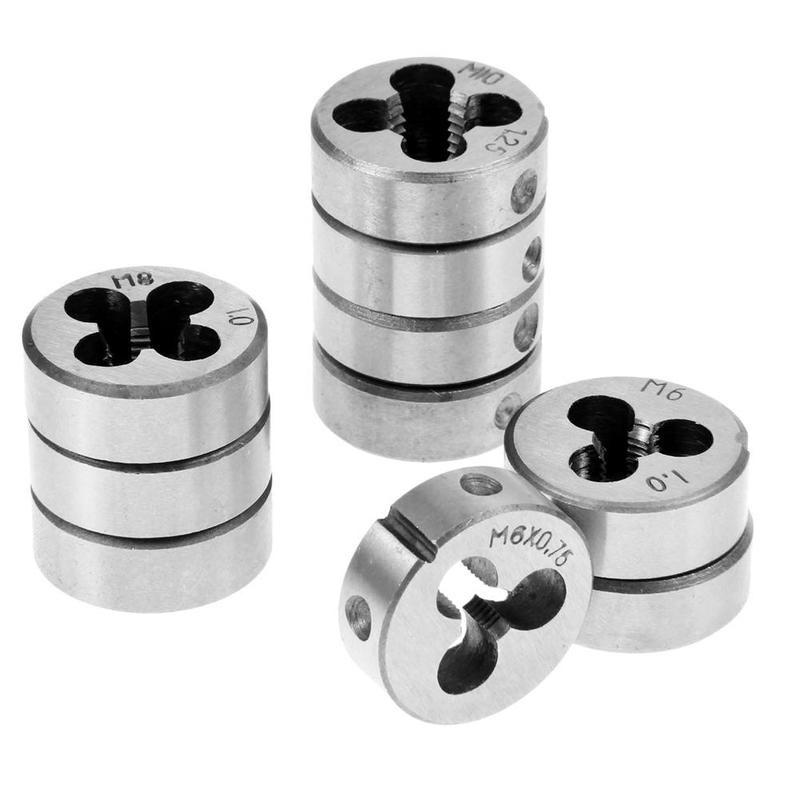 1PCS Silver Thread Die M3 M4 M5 M6 M8 Metric Right Hand Die Threading Tools For Mold Machining