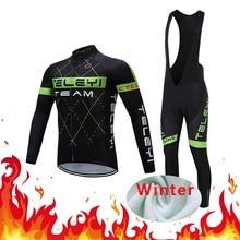 Dress Suit Bike-Jersey Triathlon-Uniform-Kit Bicycle Maillot Men Winter Fleece