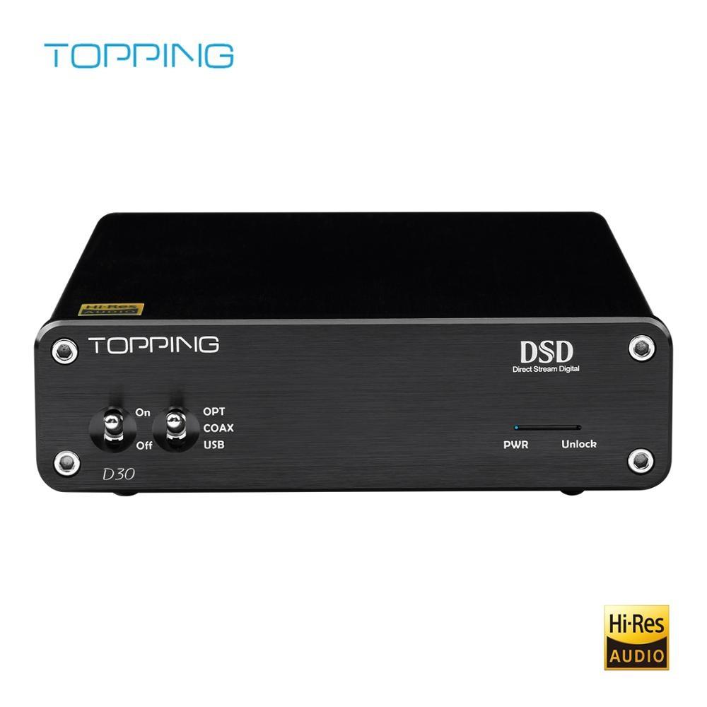 TOPPING D30 HiFi DAC Audio Converter CS4398 USB XMOS DAC 24Bit 192KHz Coaxial Optical Fiber Decoder Amplifier