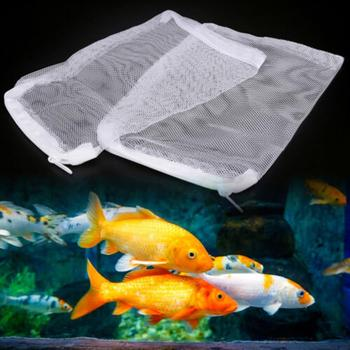 Aquarium Filter Bag Fish Tank Mesh Bag For Bio Ball Carbon Zipper Net Pond Bio Ball Active Carbon Isolation Storage Wholesale image