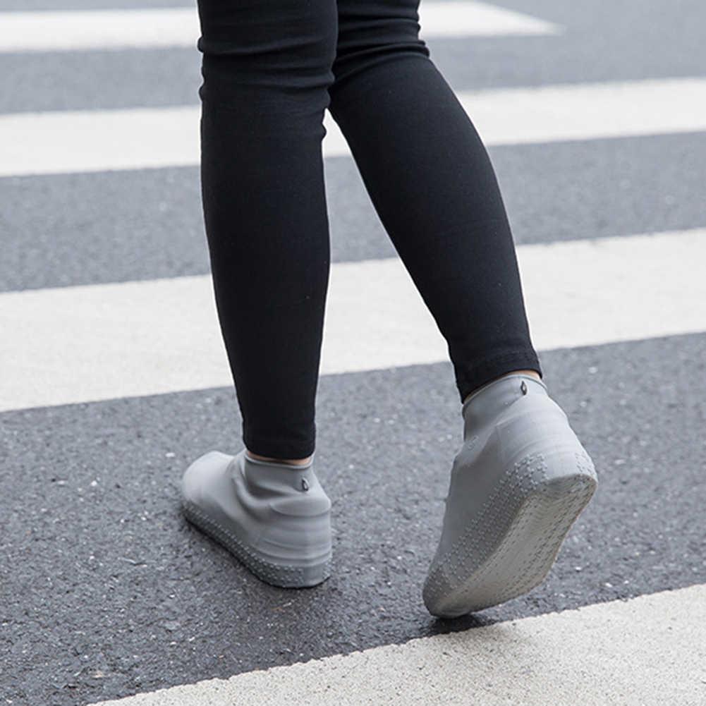 กันน้ำครอบคลุมรองเท้าขี่จักรยาน Rain Reusable Overshoes ซิลิโคนยางยืดรองเท้าป้องกันรองเท้าครอบคลุมฝุ่น