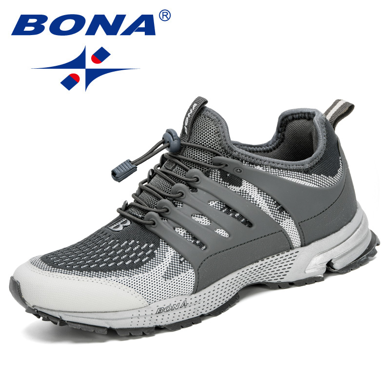 BONA 2020 New Designers Mesh Casual Shoes Men High Quality Sneakers Chaussure Homme Breathable Man Outdoor Trainers Footwear