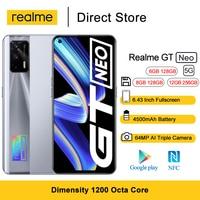 Teléfono Móvil Realme GT Neo 5G, pantalla FHD de 6,43 pulgadas, 120Hz, Super AMOLED, 1200 Octa Core, 4500mAh, cámara Triple ia de 64MP