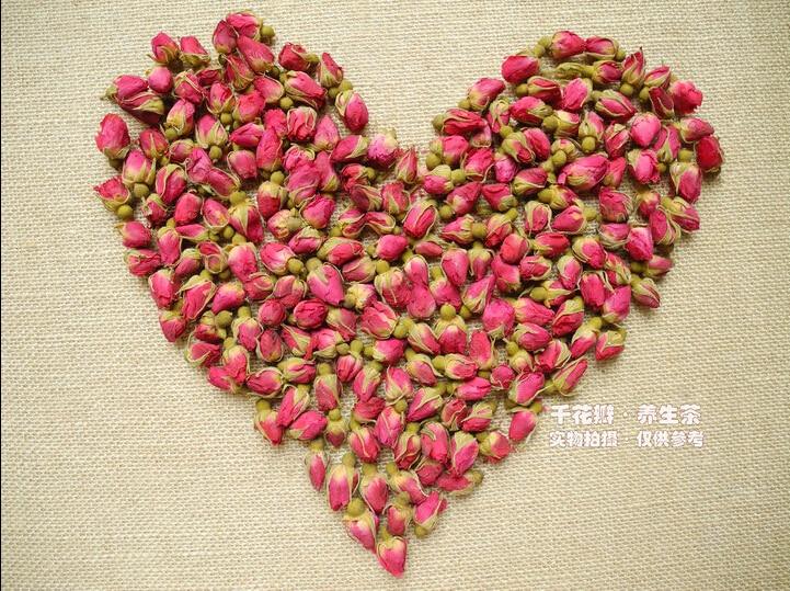 2020 100g Rose Tea Dried Roses Pingyin Roses Edible Rose flower Tea Fresh Natural Buds Bulk 2
