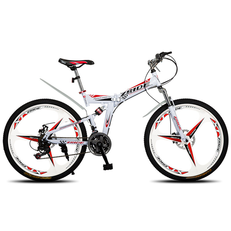 Mountain Bike 26 Inch 21/24/27/30 Speed 3 Knife Folding  Double Disc Brake Bicycle 2019 New Suitable For Adults