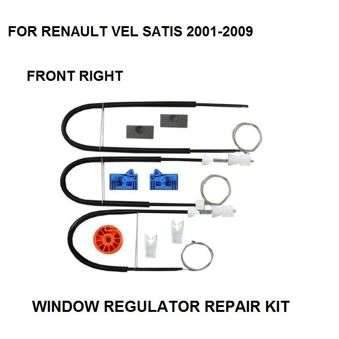 2001-2009 WINDOW REGULATOR COMPLETE CLIP SET FOR RENAULT VEL SATIS WINDOW REGULATOR REPAIR KIT FRONT-RIGHT SIDE