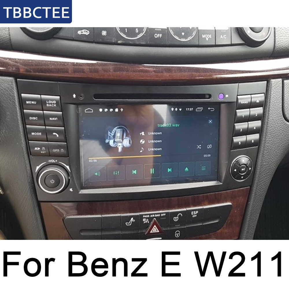 Mercedes Benz Clase E W211 2002 ~ 2009 NTG coche reproductor Multimedia Android Radio DVD GPS 8 núcleos 4GB 32GB Bluetooth
