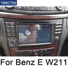 For Mercedes Benz E Class W211 2002~2009 NTG Car Multimedia Player Android Radio DVD GPS 8 Cores 4GB 32GB Bluetooth liislee for mercedes benz e class mb w211 2002 2009 car multimedia tv dvd gps radio carplay original style navigation navi