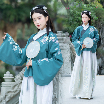 New Chinese Style Traditional Ancient Dress For Women Ming Dynasty Fairy Classical Dance Performance Clothes Elegant Hanfu VO410