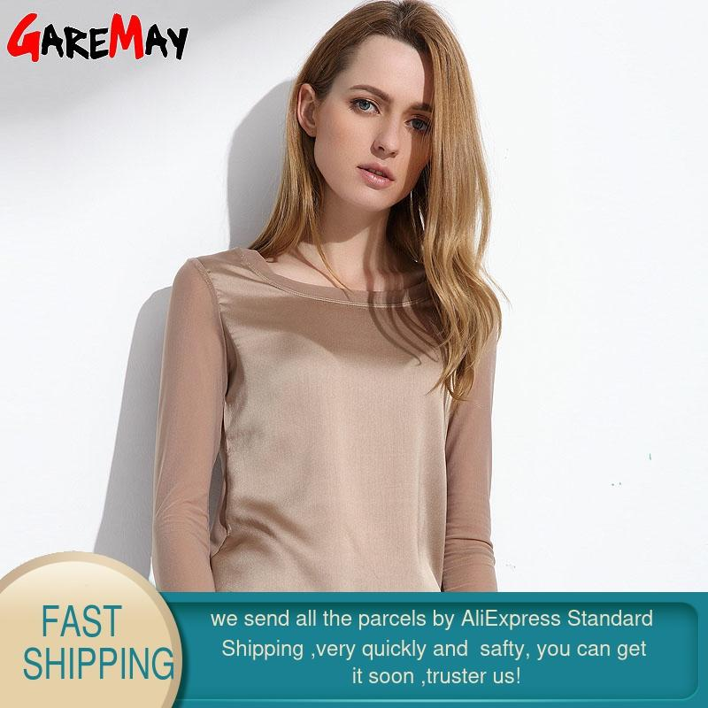 Camisas de mujer Blusas 2020 manga larga blusa de gasa formal mujeres - Ropa de mujer - foto 2