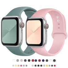 Strap For Apple Watch band 44mm 42mm 40mm 38mm Silicone Sport belt bracelet iwatch band correa for apple watch series 6 SE 5 4 3