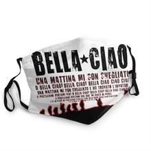 Oh bella, ciao adulto reutilizável máscara facial dinheiro assalto la caso de papel capa proteção à prova de poeira respirador