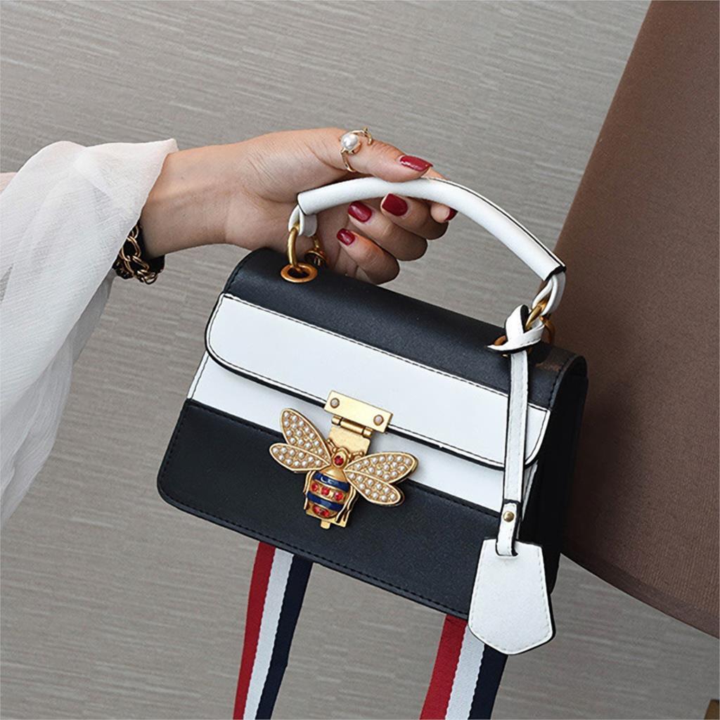 Crossbody Bags For Women 2019 Luxury Handbags Women Bag Designer Fashion Panelled Leather Shoulder Messenger Bag Female Tote Red