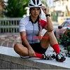 Cor fluorescente roupas femininas conjuntos de ciclismo triathlon terno manga curta skinssuit conjuntos maillot ropa ciclismo macacão macacão ciclismo feminino kafitt roupas femininas com frete gratis roupa de ciclismo 10