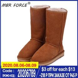 MBR FORCE 2020 Классические Аутентичные женские сапоги высокие сапоги из воловьей замши с шерстяной подкладкой зимние женские сапоги зимние сапо...