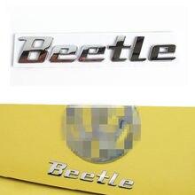 3d chrome metal adesivo besouro emblema emblema logotipo decalque para volkswagen vw beetle tdi tsi tronco traseiro estilo do carro decoração