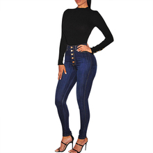 Puimentiua Fall Stretch High Waist Jeans Women Warm Winter Casual Straight-breasted Denim Pants Femme Denim Trouser Plus Size
