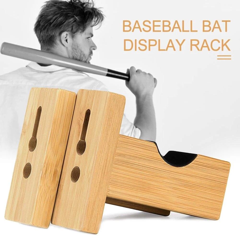 2pcs baseball bat display rack wall mounted bat holder bamboo bat display case placing baseball bat softball bat hockey stick