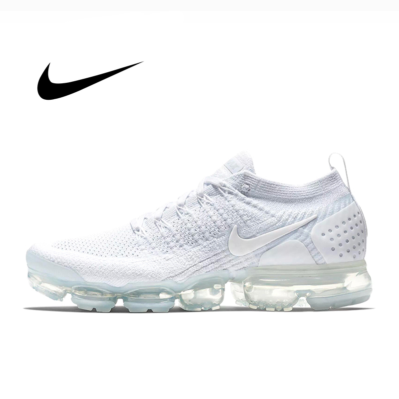 Authentic Nike Air Vapormax Flyknit 2.0 Mens Sneaker Classic White Running Shoes Lightweight Comfortable Low-top Durable 942842