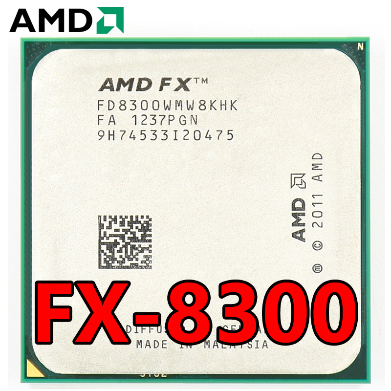 AMD Eight-Core FX 8300 3.3 GHz 8M cache CPU Processor Socket AM3+ 95W FX-8300 Bulk Package FX8300 1