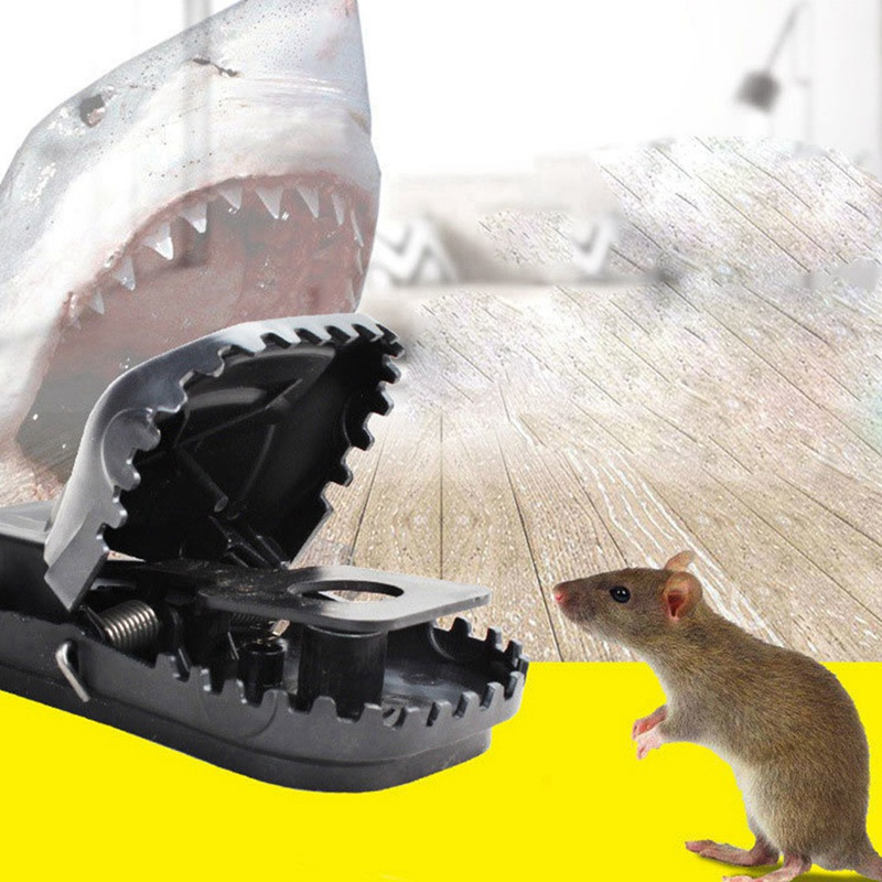 Mouse Rat Trap Snap Outdoor Pest Control Reusable Effective Large Bait Snap Mice Killer Hamster Squirrel Catcher Household/ image