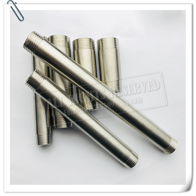 SUS 304 Stainless Steel Pipe 22mm,5mm,8mm,10mm Extended Outer Threaded Tube 1/8