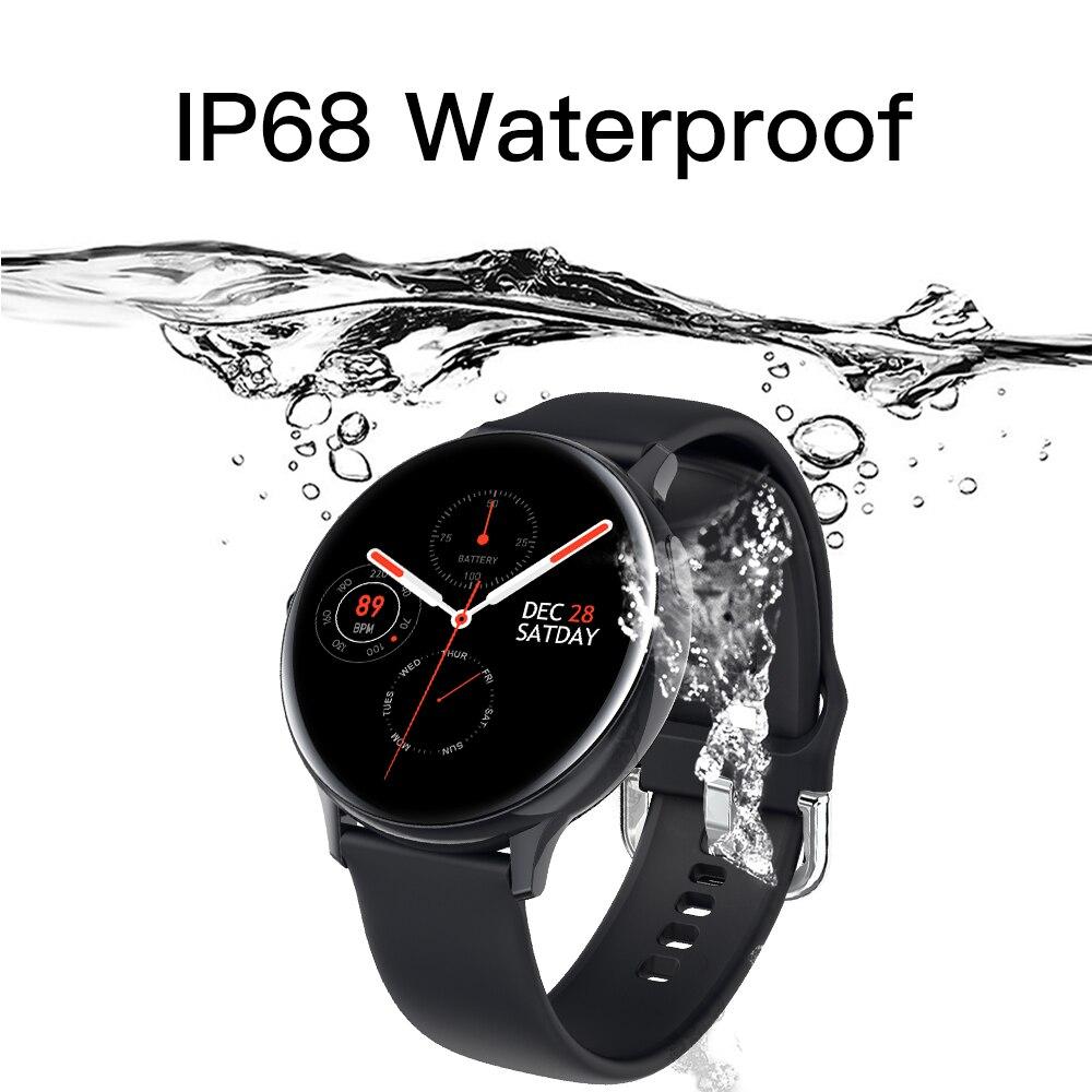 LEMFO S20 ECG Smart Watch Men Women Full Touch Screen IP68 Waterproof Heart Rate Monitor Blood Pressure Smartwatch 4