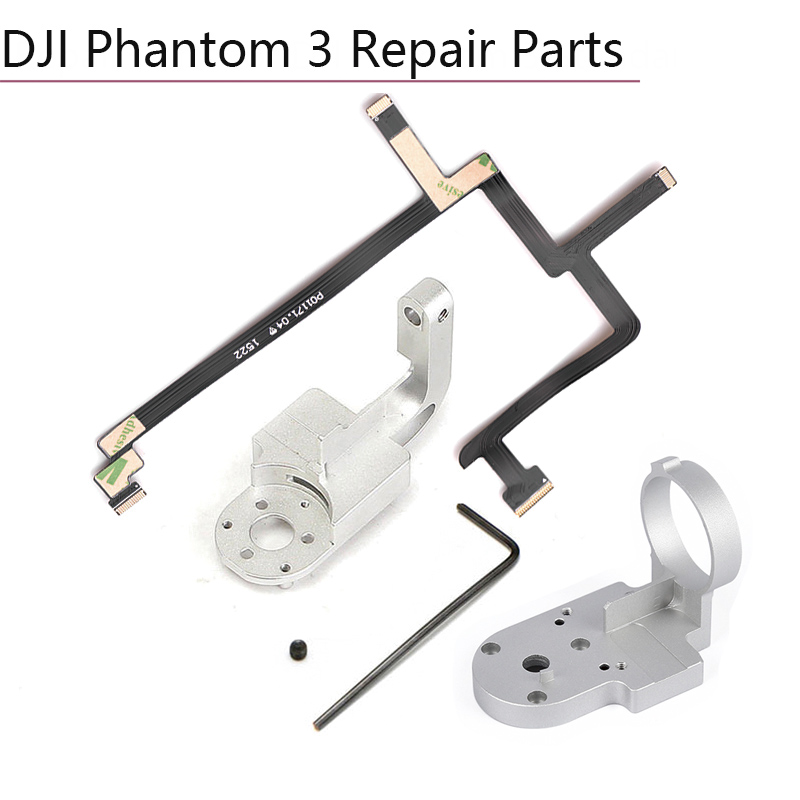 Repair Parts for DJI Phantom 3 Standard P3S Drone Yaw Roll Arm Gimbal Bracket Flat Ribbon Cable Flex Pitch Motor gimbal mounting(China)