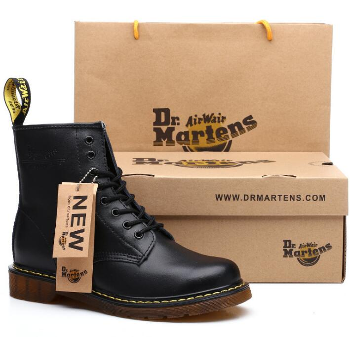 Men Boots Shoes-Box ST324 Dr Martins Split-Leather Winter Brand Warm with Comfortable