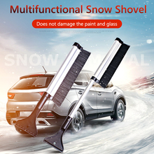 Telescopic Rod Car Vehicle Snow Brush Kit with Ice Scraper Squeegee Cloth Gloves Frost Windshield Cleaner Winter Tool
