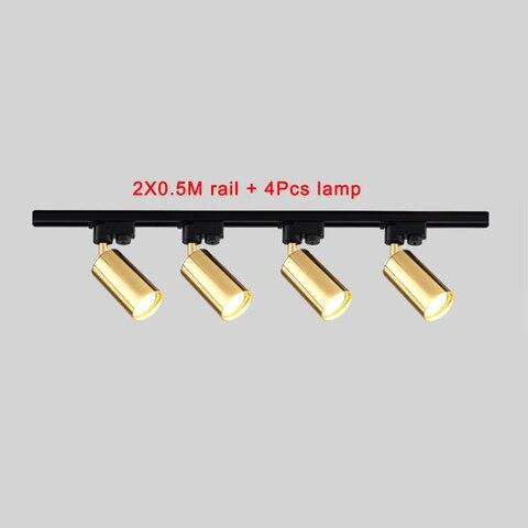 montado lampadas ajustavel 220v 7w rastreamento luminarias sala de estar loja