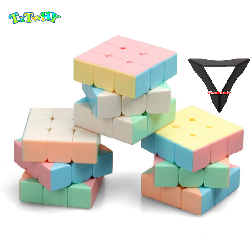 YJ YongJun Candy Macaron Color Rubike Cube 3x3x3 Magic Cube Speed  Professional Magics For Kids Education Toys Gift