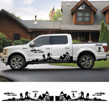 8 Stuks Auto Deur Side Stickers Voor Ford Ranger Raptor F150 F-150 Off Road 4X4 Klimmer Pickup Diy Auto Decals sticker Accessoires(China)