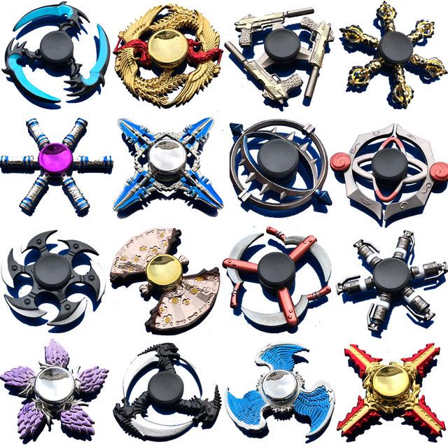 Bronze Gear Thor Hammer Hand Spinner Finger Fidget Spinner Superman Alloy Metal Hand Tri Spiner Ring Hobbies for Adults