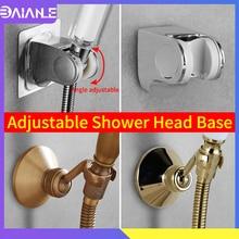 цены Bathroom Hand Held Shower Bracket Brass Antique Shower Holder Adjustable Adhesive Shower Head Holder Wall Mounted